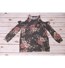 Pomelo Grey Floral Floral Shirt