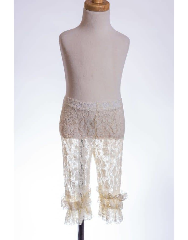 68fc18a1f35 MLKids Ivory Lace Ruffle Leggings - Peek-a-Bootique