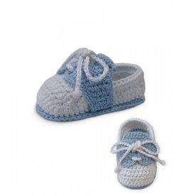 Jefferies Socks White/Light Blue Loafers