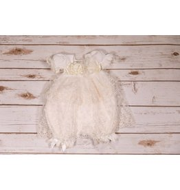 Katie Rose Abby Baby Bloomer Ivory Dress NB