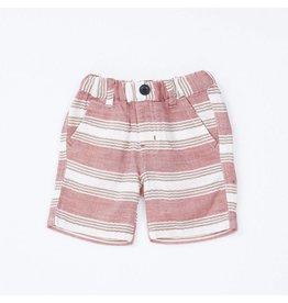 Bit'z Kids Salmon and Ivory Striped Shorts