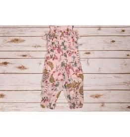 Baby Sara Pink Floral Ruffle Romper