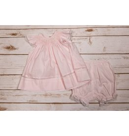 Sen Baby Light Pink and White Lace Dress with Bloomers