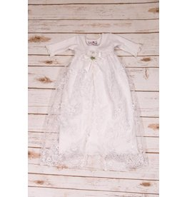Katie Rose Alesandra White Lace And Rose Baby Sac
