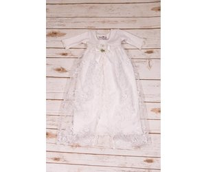 b7a98aaefde Katie Rose Alesandra White Lace And Rose Baby Sac - Peek-a-Bootique