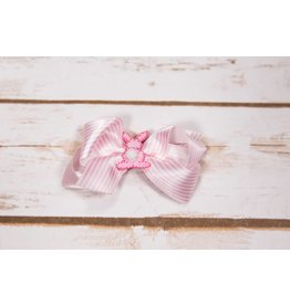 Forevher Designs Mini Stripe Bow with Bunny