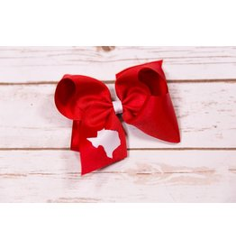 Wee Ones Red Texas Cut Out Bow