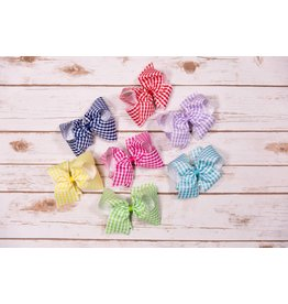 Wee Ones king gingham print bow