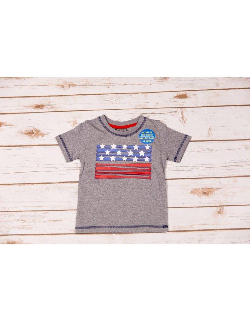 Cr Sports Grey Glow In Dark American Flag Shirt Peek A Bootique