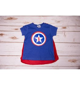 Reflectionz Captain America Birthday Shirt