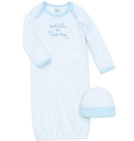Little Me Thank Heaven for Little Boys Gown with Hat