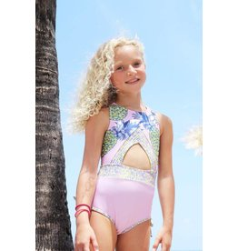 Lime Apple Pastel Pink Pineapple One Piece