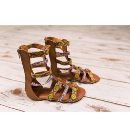 JoSmo Tan Multi Gladiator Sandals