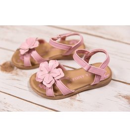 Laura Ashley Pink Flower Sandals with Jewel