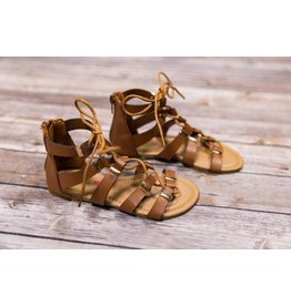 Petalia Black & Brown Tie Sandal