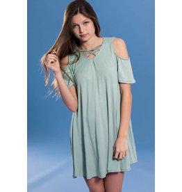 Pomelo Sage Cold Shoulder Dress