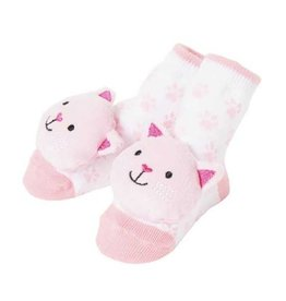 Baby Dumpling Pink Kitten Rattle Socks