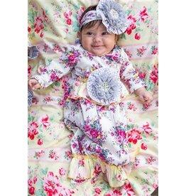 She Bloom Sunshine Grey Gown