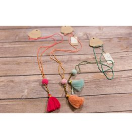 Bela & Nuni Simple Tassel Long Necklace