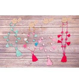 Bela & Nuni Multi Pom Pom Tassel Necklace NK-17/14