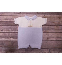 Baby's Trousseau Little Blue Sailboat Romper