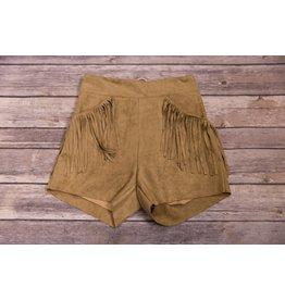 Idol Mind Kids Brown Fringe Pocket Shorts