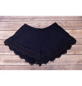 Tru Luv Navy Blue Bottom Lace Shorts