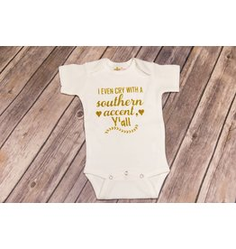 Bayou Baby Southern Accent Glitter Onesie