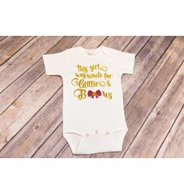 Bayou Baby Made For Glitter and Bows Onesie