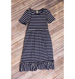Pomelo Navy Stripe Dress