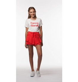 PP LA Red Ruffle Tie Soft Short
