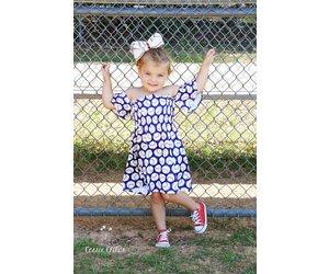 f836fb39a5b Cold Shoulder Baseball Dress - Peek-a-Bootique