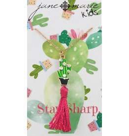 Jane Marie Cactus Tassel Necklace