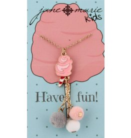 Jane Marie Cotton Candy With Pom Pom Tassel