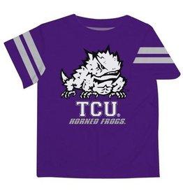 Vive La Fete TCU Stripe Purple Boys Tee