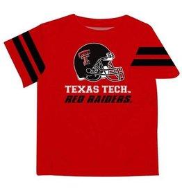 Vive La Fete Texas Tech Stripe Red Boy Tee