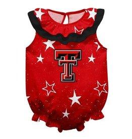 Vive La Fete Texas Tech Stars Red Onesie