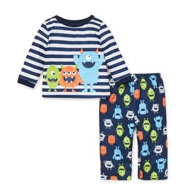 Little Me Monster Pj Set