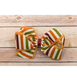 Wee Ones King Harvest Striped Bow