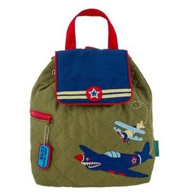 stephen joseph Airplane Quilted Backpack