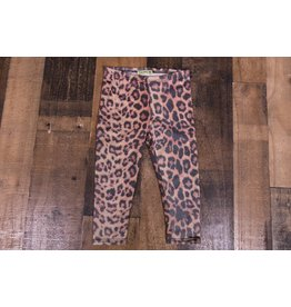 Little Mass Cashmere Blush Leopard Print Leggings