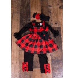 Serendipity Clothing Co Buffalo Plaid Tunic And Legging Set