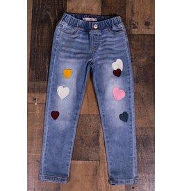 Mae Li Rose Heart Patch Jeans
