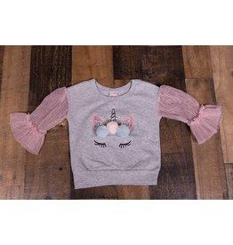 Calla Lily Unicorn Pom Pom Sweater