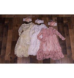Princess Lace Bow Formal Dress