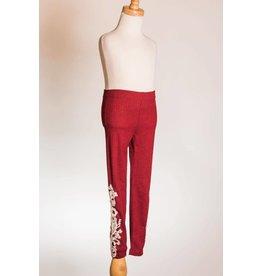 MLKids Burgundy Crochet Lace Leggings