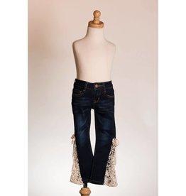 MLKids Lace Bellbottom Dark Jeans