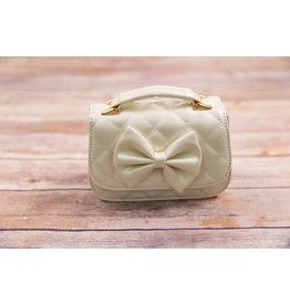 Doe A Dear Pearl Quilted Bow Purse