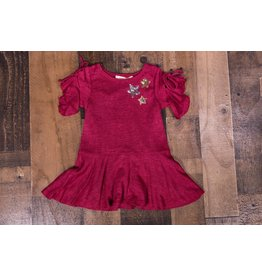 Baby Sara Heather Red Star Dress
