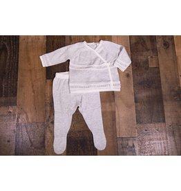 Angel Dear Grey Kimono Knit Set